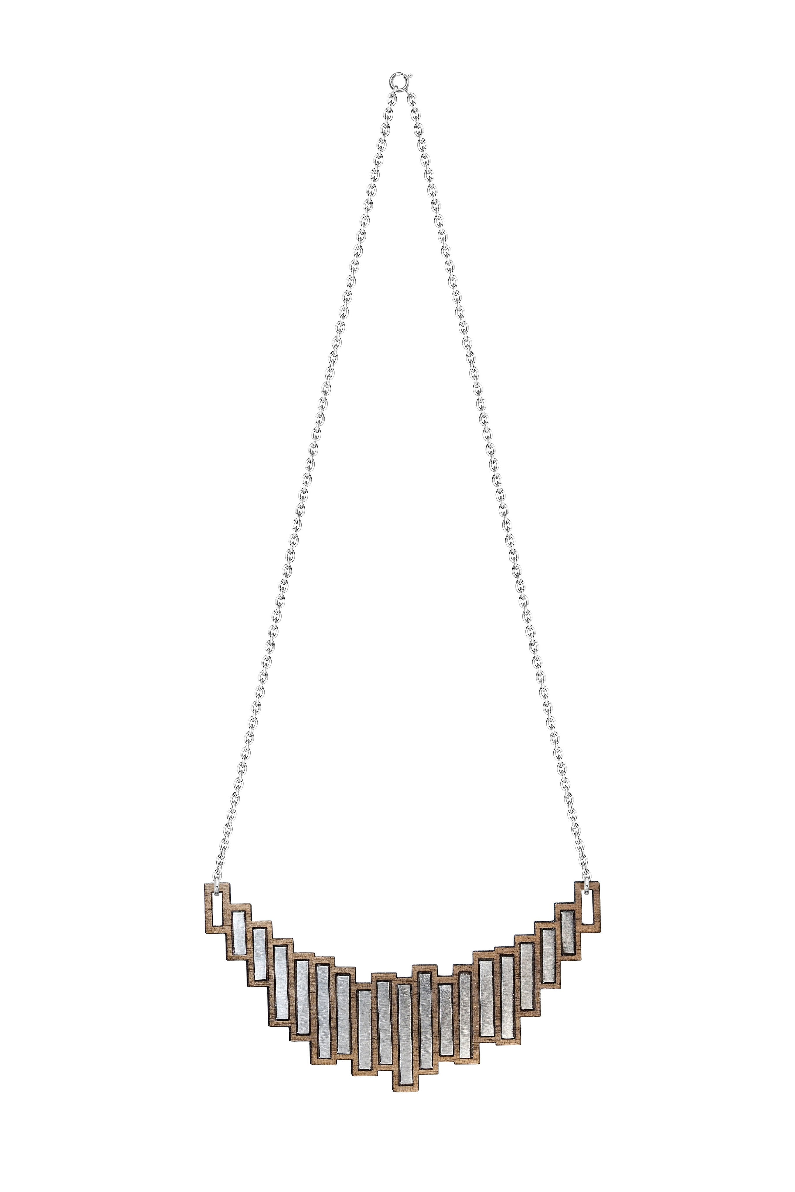 The Stella - Steel Necklace by form.london on OOSTOR.com