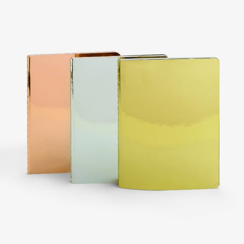 Metallic Notebook Trio by Mustard Gifts on OOSTOR.com
