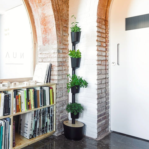 Black Smart Self-Watering Vertical Garden by Citysens on OOSTOR.com
