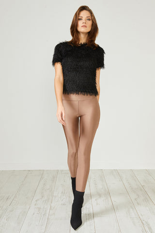 Bronze Glitter Leggings by Urban Touch