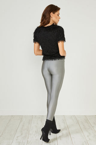 Grey Glitter Leggings