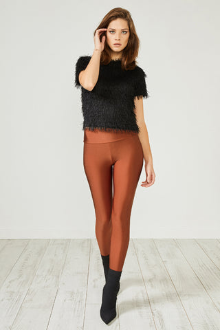 Rust Red Glitter Leggings