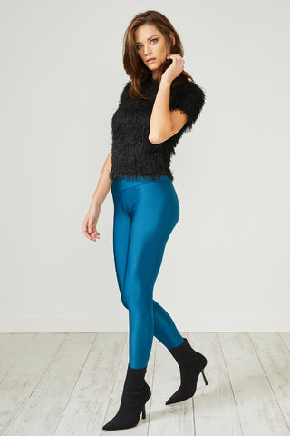 Teal Glitter Leggings