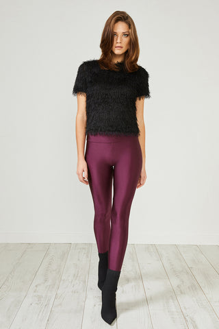 Burgundy Glitter Leggings