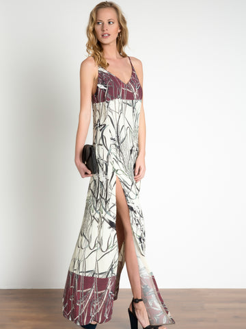 Bird Print Cami Maxi Dress