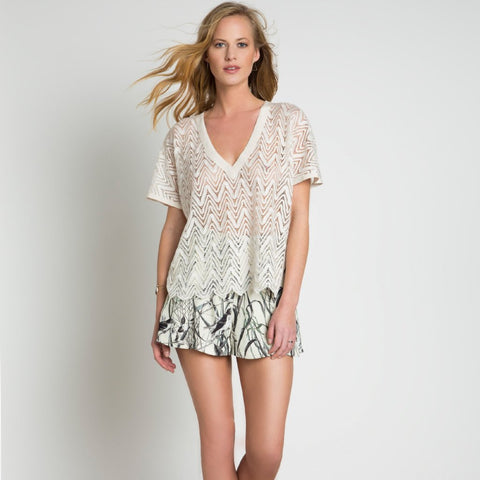 Lace Look Knitted Top