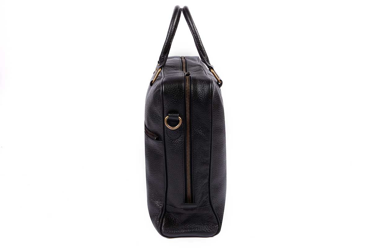 Fox Briefcase / Messenger Bag - Classic Black