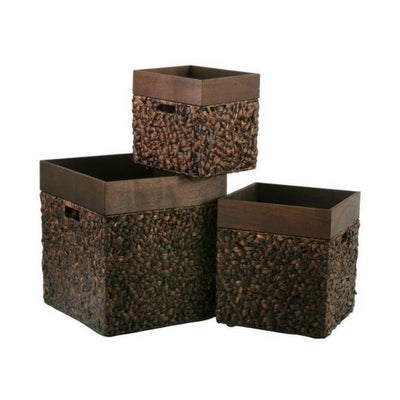 Square Water Hyacinth Storage Box by My Maison Designs Ltd on OOSTOR.com