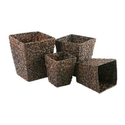 Water Hyacinth Square Storage Box by My Maison Designs Ltd on OOSTOR.com