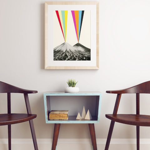 Volcanos Art Print by Cassia Beck on OOSTOR.com