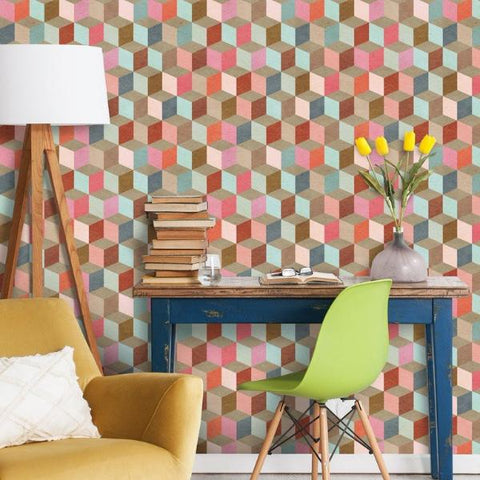 Coloured Geometry Wallpaper by Pad Home on OOSTOR.com