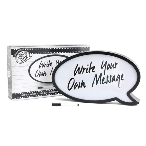 Light Up Speech Bubble Lightbox by Sole Favors on OOSTOR.com