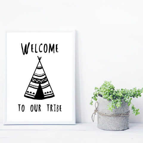 Welcome to our tribe print by Charlie Doodle on OOSTOR.com
