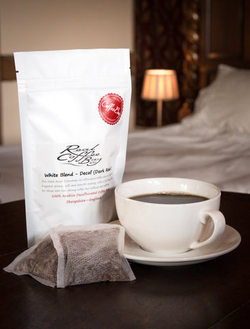 Real Coffee Bag Company - White Blend Decaffeinated Dark Roast Coffee Bags