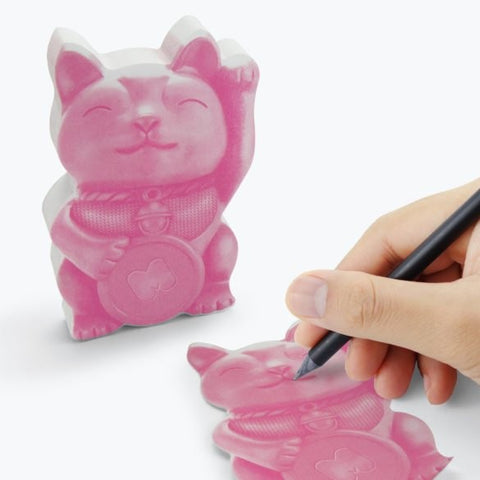 Lucky Cat Sticky Notes by Mustard Gifts on OOSTOR.com