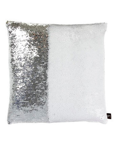 White & Silver Mermaid Pillow by Mermaid Pillow Shop on OOSTOR.com