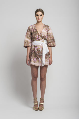 Mary-H-Wrap Mini Dress/Kimono Shirt by CoCo VeVe on OOSTOR.com