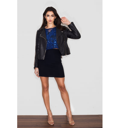 Reeta Miniskirt in Navy by TwentyFour Fashion on OOSTOR.com