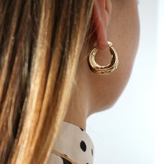 Abstract Hoop Earrings