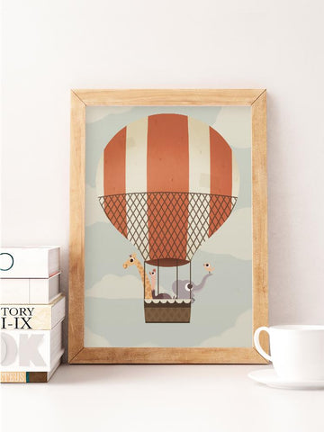 Adventure on a Balloon Print