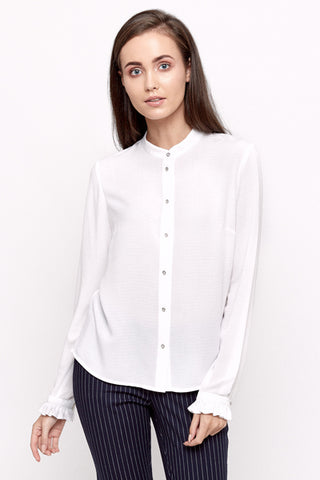 White Anabel Blouse by Bubala