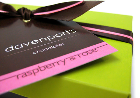 Raspberry & Rose Truffle box by Davenports on OOSTOR.com