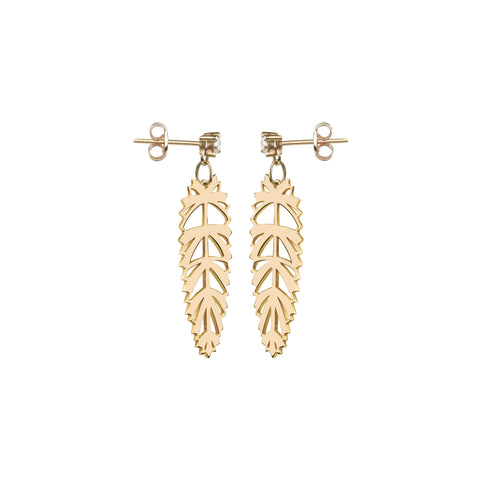 Palmera Gold Earrings by Afew Jewels on OOSTOR.com