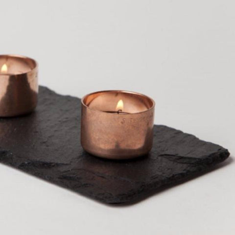 Slate & Copper Candle Trio by Slated on OOSTOR.com