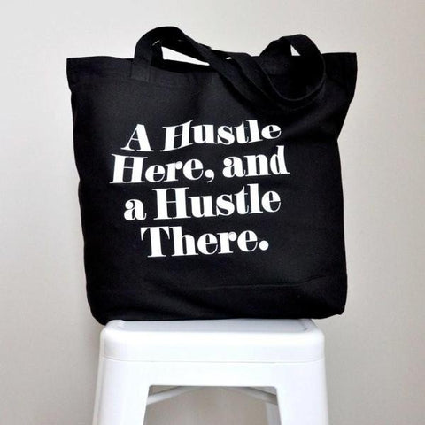 Hustle Cotton Tote Bag by Swell Made Co on OOSTOR.com