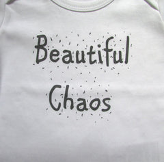 Beautiful Chaos T-shirt - Screen Printed Organic Children's Clothes
