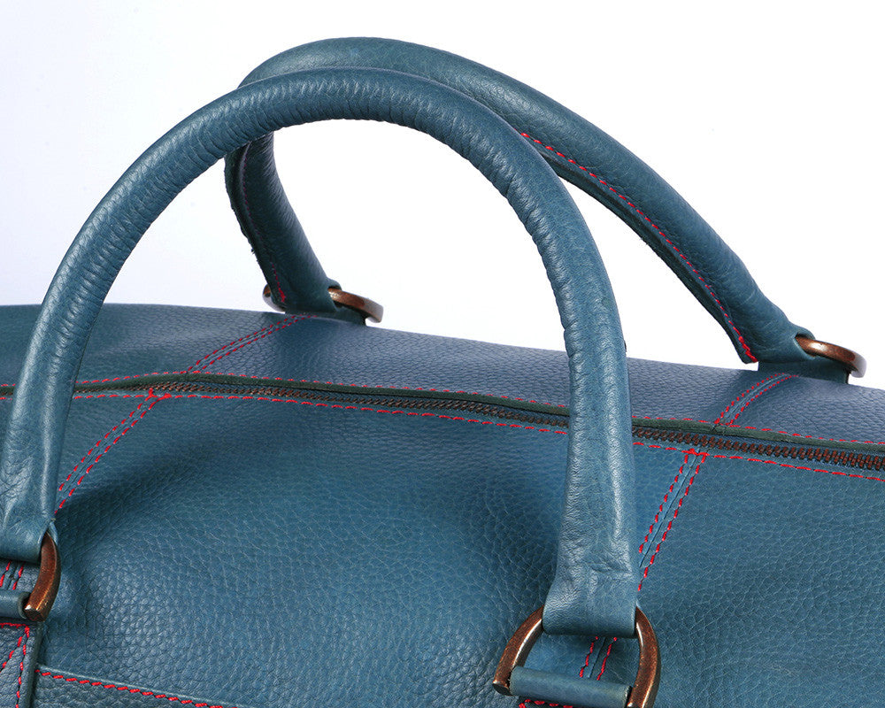 Archie's Duffle - Signature Blue w/ Red Stitching