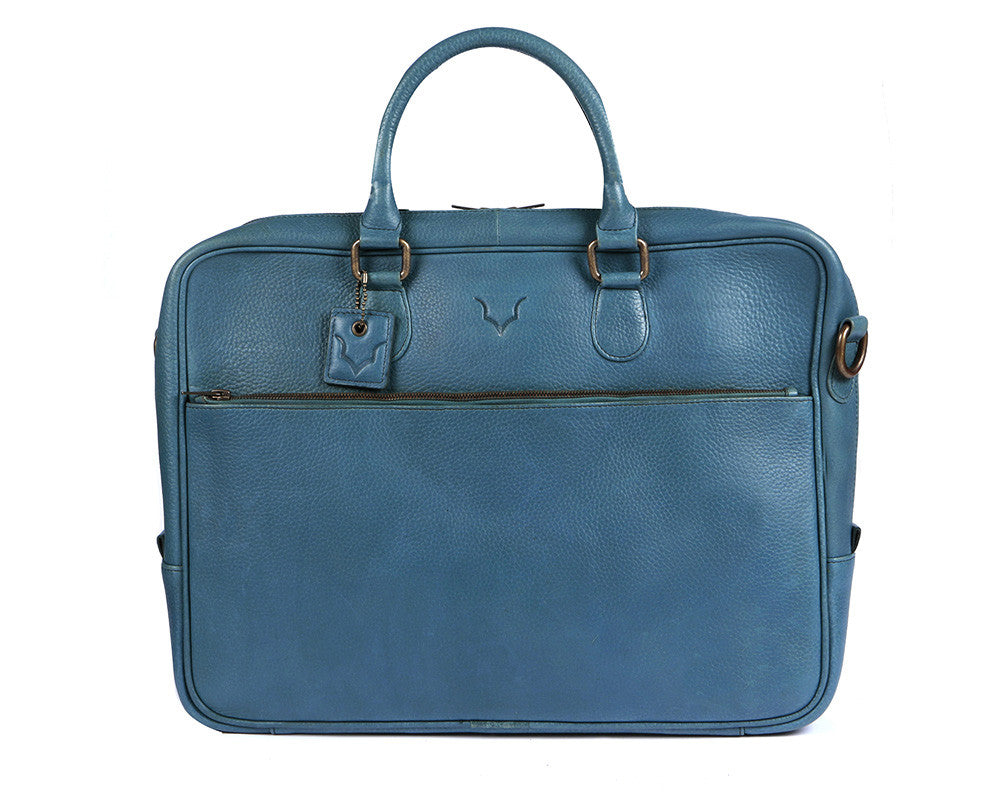e7ad23ea49 Fox Briefcase   Messenger Bag - Signature Blue - OOSTOR.com