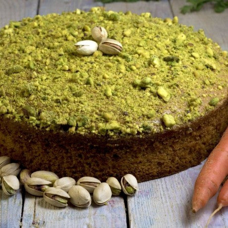 Carrot and Pistachio Cake (Gluten & Dairy Free)