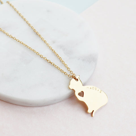 Meow And Forever Cat Necklace by Eclectic Eccentricity on OOSTOR.com