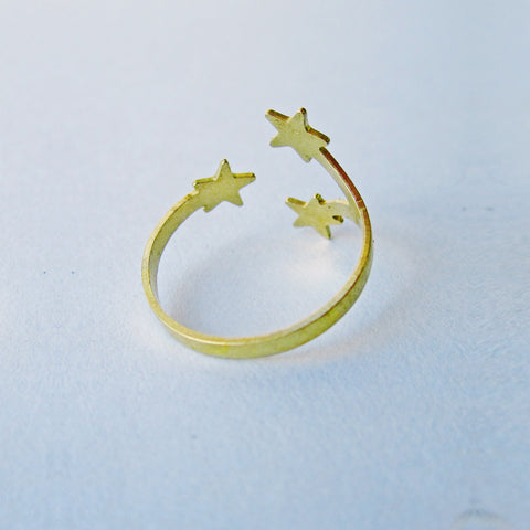 Constellations Vintage Brass Ring by Eclectic Eccentricity on OOSTOR.com