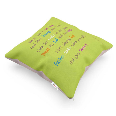 DOG CUSHION WITH RHYME