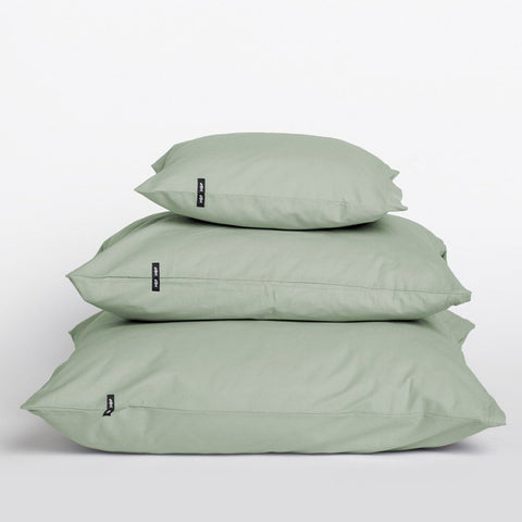 Set of 2 Sage Green Pure Cotton Pillow Cases by HOP Design on OOSTOR.com