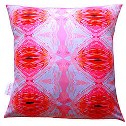 Abstract Amaranth Flamingo cushion