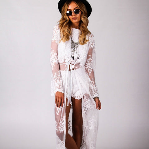 Wanderer Kimono White by Wired Angel Ltd on OOSTOR.com