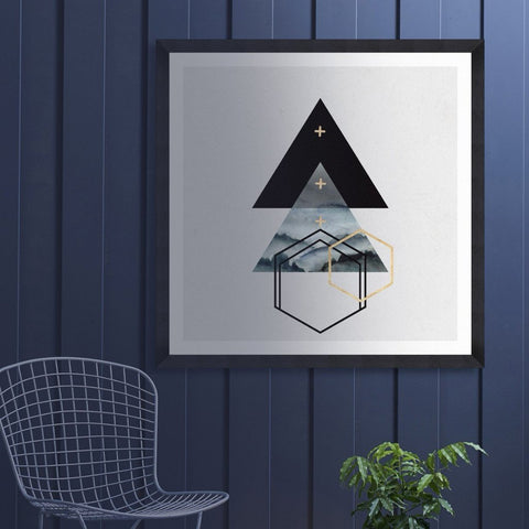 Triangles I Art Print by Pad Home on OOSTOR.com