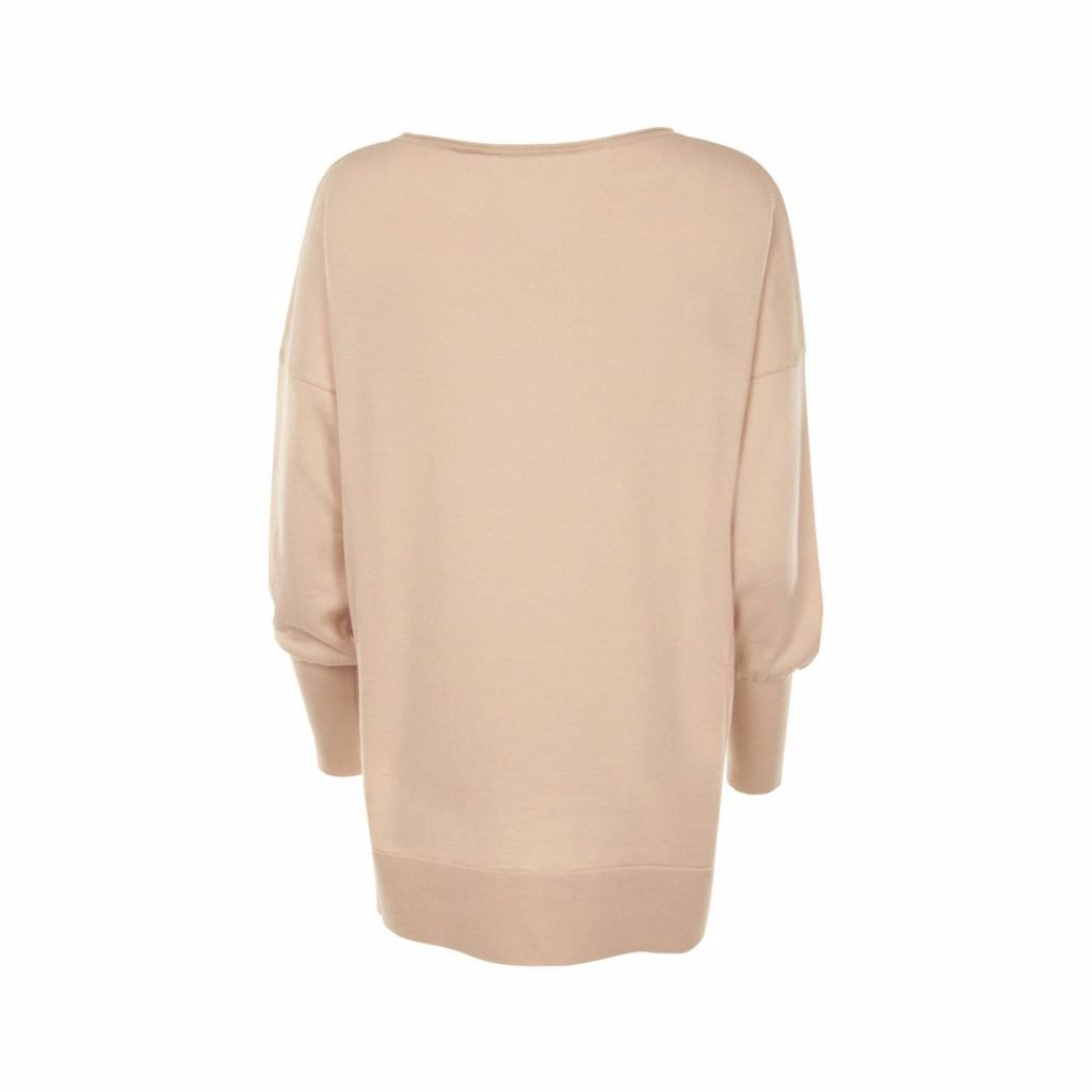 Blush Pink Eloise Merino Sweater by Flock By Nature on OOSTOR.com