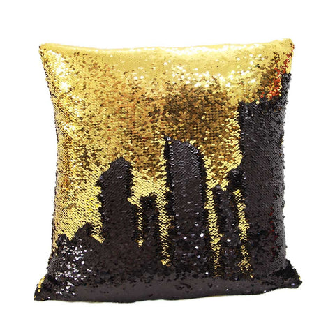 Black & Gold Mermaid Cushion by Mermaid Pillow Shop on OOSTOR.com