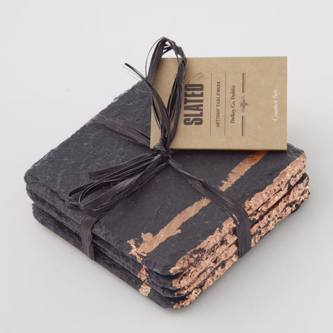Copper Leaf Slate Coasters by Slated on OOSTOR.com