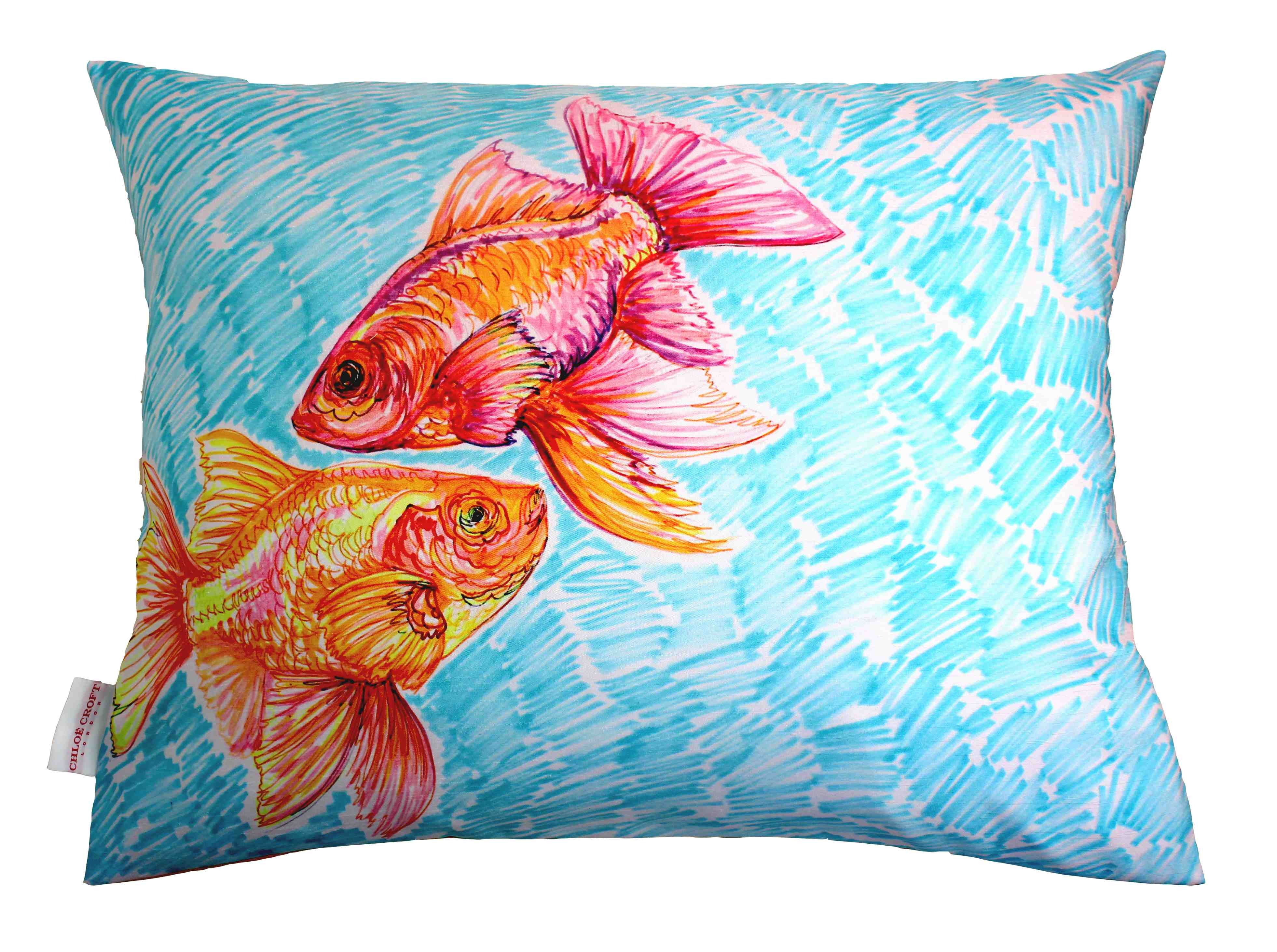 Gorgeous goldfish cushion