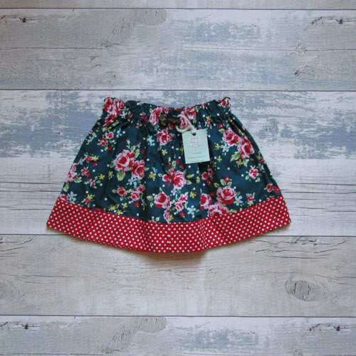 Girls floral skirt