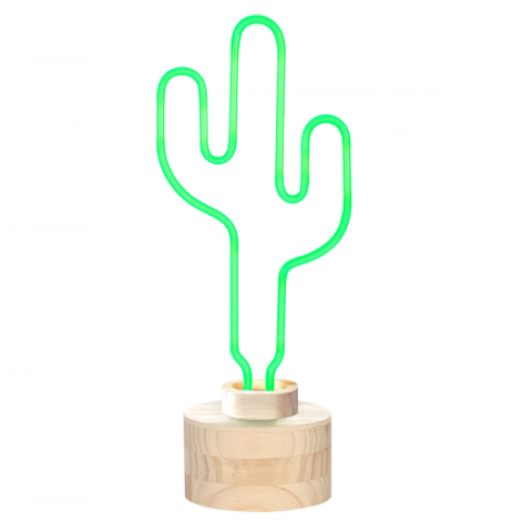 Lumosnap Neon Cactus Table Lamp by gingersnap on OOSTOR.com