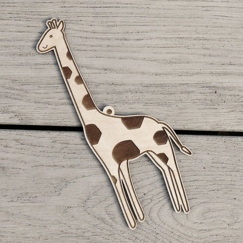 Hanging Wooden Giraffe Nursery Decoration by Fred & Robin