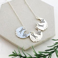 Hang In There - Personalised Sloth Necklace