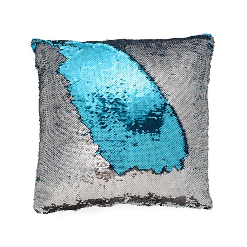 Blue & Silver Mermaid Cushion by Mermaid Pillow Shop on OOSTOR.com