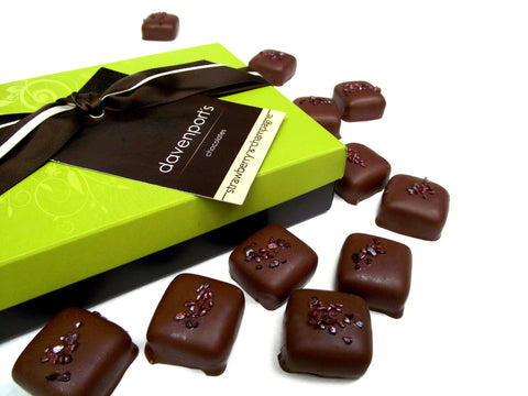 Strawberry & Champagne truffle box by Davenports on OOSTOR.com